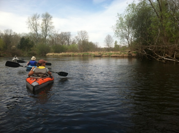 Canoeing the Kalamazoo River.