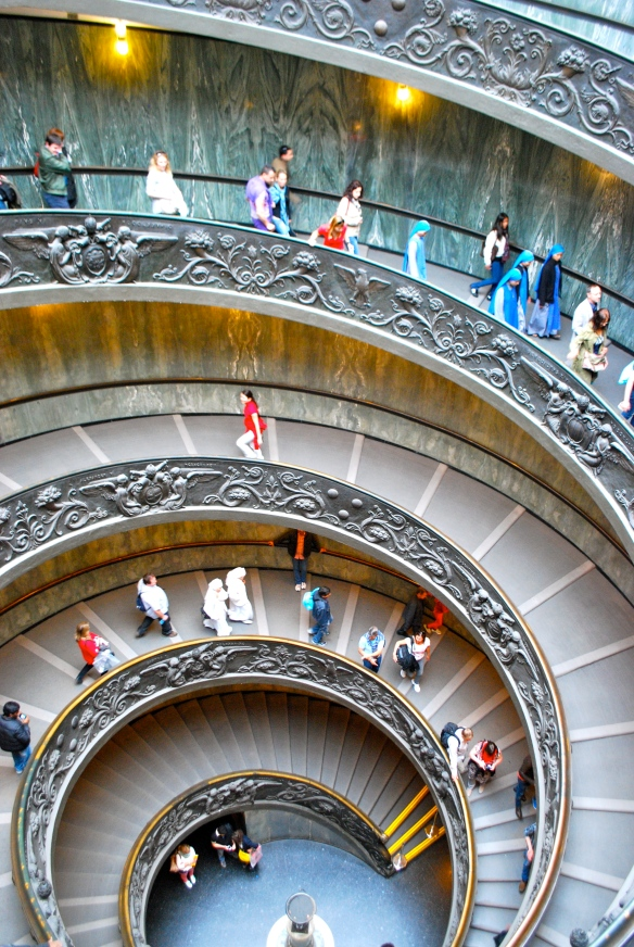 Spiral staircase at the Vatican