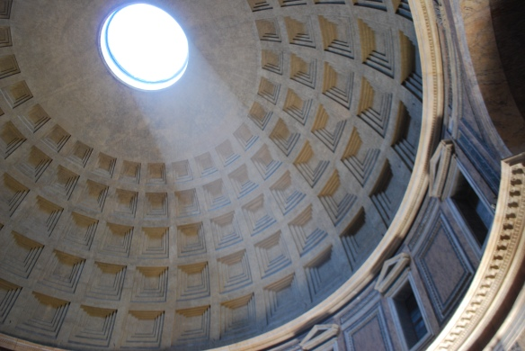 The opening at the top of the Pantheon