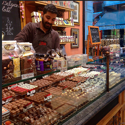 Belgium chocolate shop