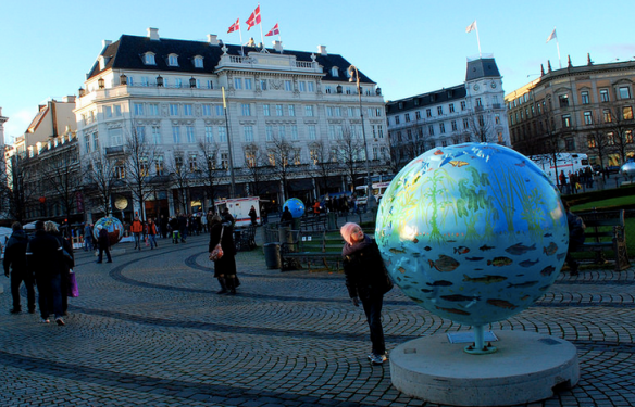 Climate change artwork in Copenhagen, 2009