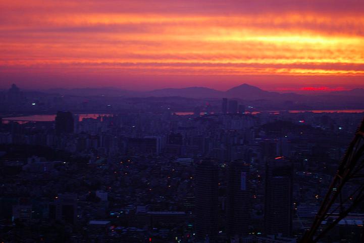 Sunset in Seoul, Korea, 2012