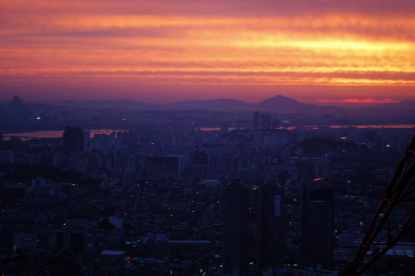 Sunset in Seoul, Korea, 2012