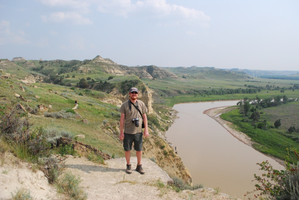 """An overlook in the national park, which houses some of Roosevelt's former ranchland. The president said the badlands have a """"grim beauty."""""""