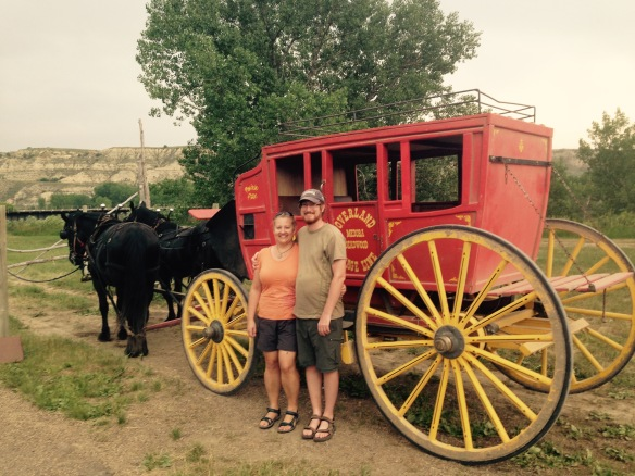 We took a ride on this authentic stagecoach—it was pretty bumpy.