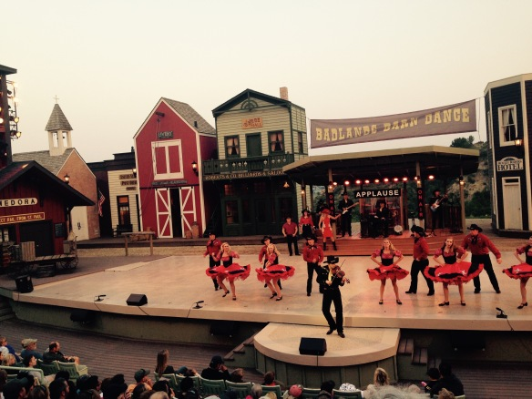 The town of Medora, near the national park, is famous for its country-western variety show called the Medora Musical. This was its 50th year.